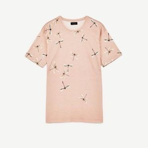 Zara Man Pink Dragonfly Tee